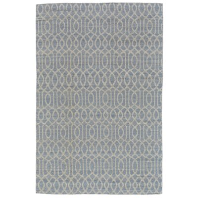 Bannerdown Hand-Loomed Light Blue Wool Pile Area Rug Rug Size: Rectangle 5 x 8