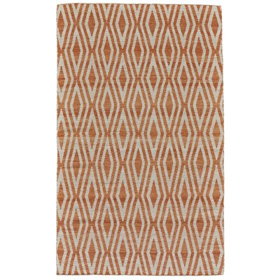 Hallock Hand-Loomed Orange Area Rug Rug Size: Rectangle 4 x 6