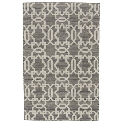 Hallock Hand-Loomed Gray Area Rug Rug Size: Rectangle 5 x 8