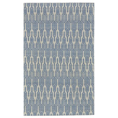 Hallock Hand-Loomed Light Blue Area Rug Rug Size: Rectangle 5 x 8