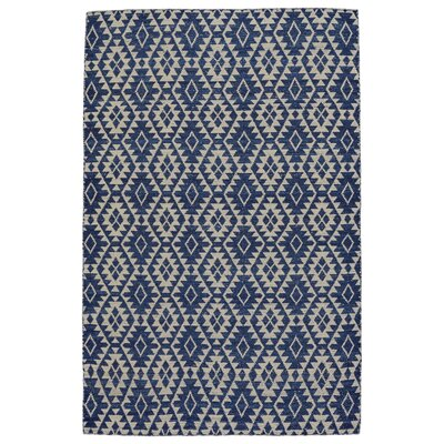 Hallock Hand-Loomed Blue Area Rug Rug Size: Rectangle 5 x 8