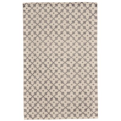Halloran Hand-Knotted Ivory/Gray Area Rug Rug Size: Rectangle 5 x 8