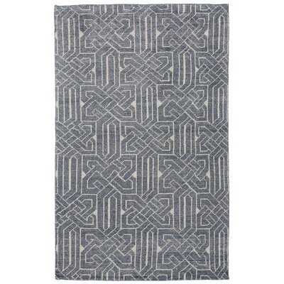 Halloran Hand-Knotted Indigo Area Rug Rug Size: Rectangle 9 x 12