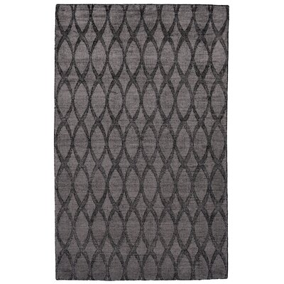 Hallum Hand-Loomed Charcoal Area Rug Rug Size: Rectangle 4 x 6