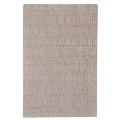 Simone Hand-Loomed Beige/Gray Area Rug Rug Size: 5 x 8