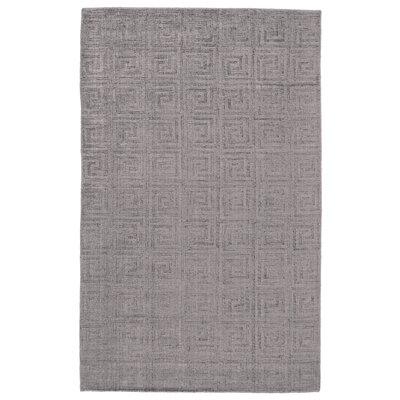 Simone Hand-Loomed Gray/Beige Area Rug Rug Size: 10 x 14