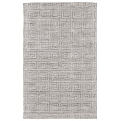 Halpern Hand-Loomed Silver Area Rug Rug Size: Rectangle 4 x 6