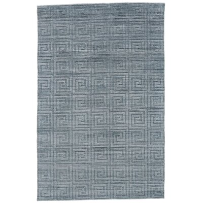 Halpern Hand-Loomed Turquoise Area Rug Rug Size: Rectangle 4 x 6