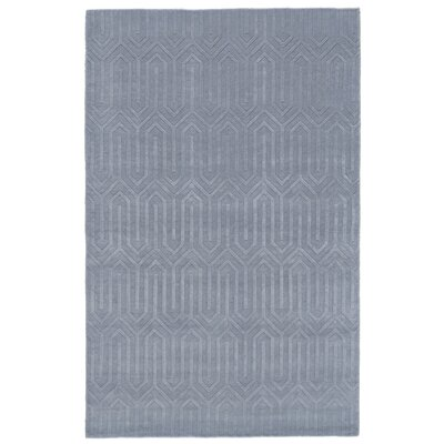 Spencer Hand-Woven Light Blue Area Rug Rug Size: 4 x 6