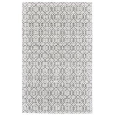 Coria Hand-Woven Silver/Gray Area Rug Rug Size: 5 x 8