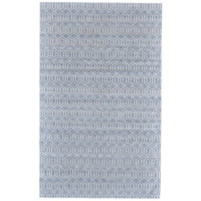 Coria Hand-Woven Blue/White Area Rug Rug Size: Rectangle 9 x 12