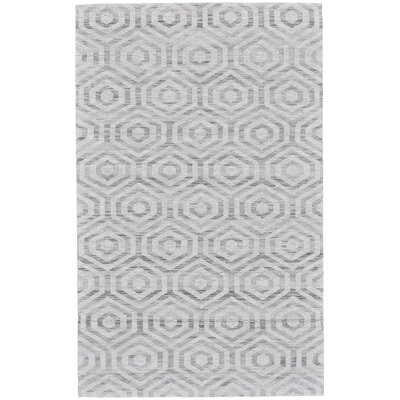 Coria Hand-Woven Ivory/Charcoal Area Rug Rug Size: Rectangle 4 x 6