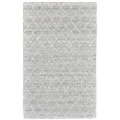 Brainard Hand-Woven Gray/White Area Rug Rug Size: Rectangle 4 x 6