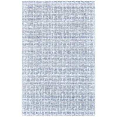 Jarice Hand-Woven White/Blue Area Rug Rug Size: Rectangle 8 x 10