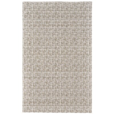 Halvar Hand-Woven White/Silver Area Rug Rug Size: Rectangle 5 x 8
