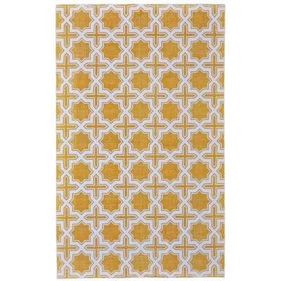 Paolucci Hand-Woven Lemon Area Rug Rug Size: Rectangle 8 x 10