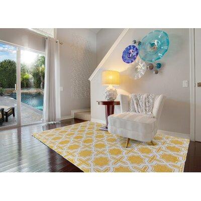 Granada Hand-Woven Lemon Area Rug Rug Size: 3 x 5