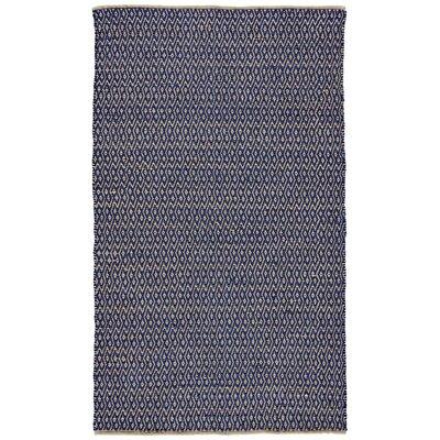 Kenzo Hand-Woven Cobalt Area Rug Rug Size: 4' x 6'
