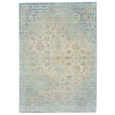 Capucina Blue/Beige Area Rug Rug Size: Rectangle 5 x 8