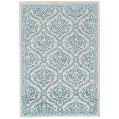 Aston Aqua Area Rug Rug Size: Rectangle 1'8' x 2'10