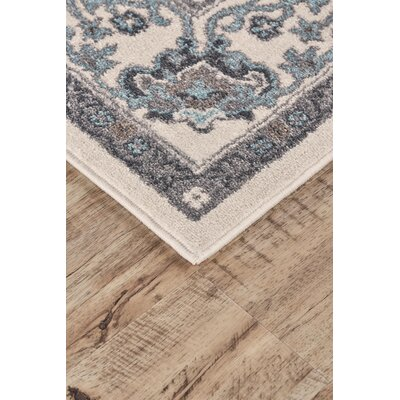 Minerva Beige/Blue Area Rug Rug Size: Rectangle 18 x 210