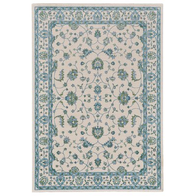 Minerva Beige/Blue Area Rug Rug Size: Rectangle 53 x 76