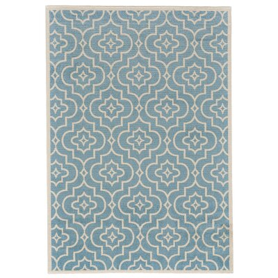 Bluffridge Turquoise Area Rug Rug Size: 53 x 76