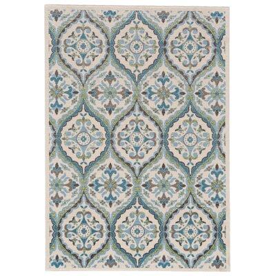 Emma Beige/Blue Area Rug Rug Size: 710 x 106