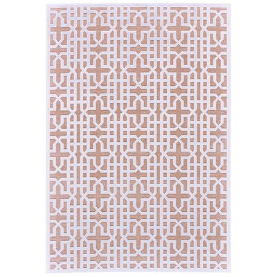 Drew Brown/White Area Rug Rug Size: 76 x 106