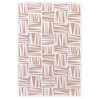 Drew White/Blush Area Rug Rug Size: 53 x 76