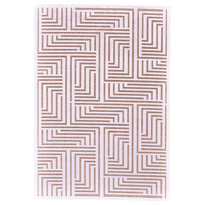 Drew White/Blush Area Rug Rug Size: Rectangle 76 x 106