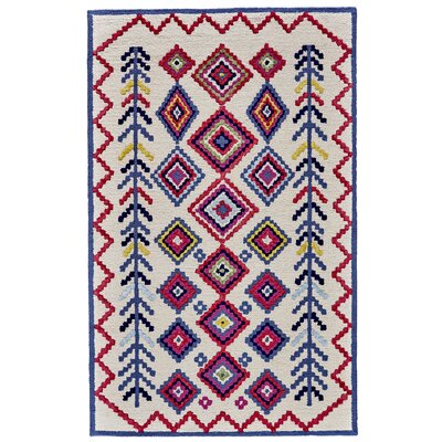 N�stved Hand Tufted Ivory Area Rug Rug Size: 36 x 56