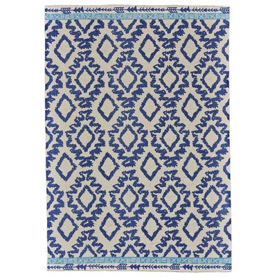 Kopstal Hand Woven Blue Area Rug Rug Size: Rectangle 5 x 8