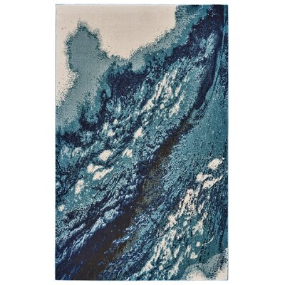 Elizabethtown Coastal Blue Area Rug Rug Size: Rectangle 8 X 11