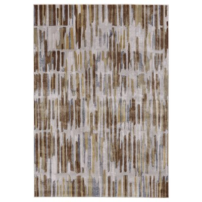 Katya Taupe/Dark Gold Area Rug Rug Size: Rectangle 5 x 8
