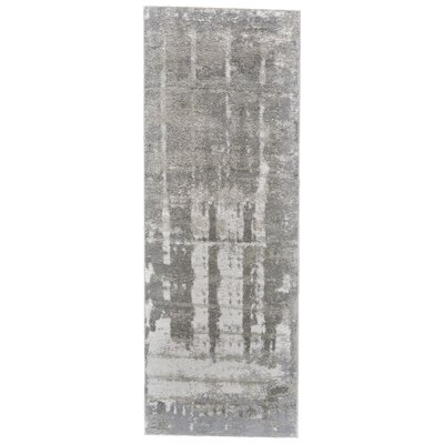 Kassie Gray/Taupe Area Rug Rug Size: Runner 21 x 71