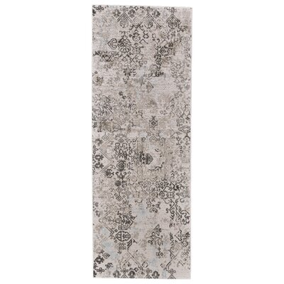 Oldenzaal White/Birch Area Rug Rug Size: Runner 21 x 71
