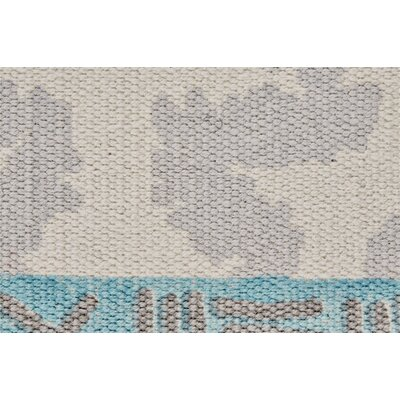 Kopstal Hand Woven Gray/Turquoise Area Rug Rug Size: Rectangle 8 X 11
