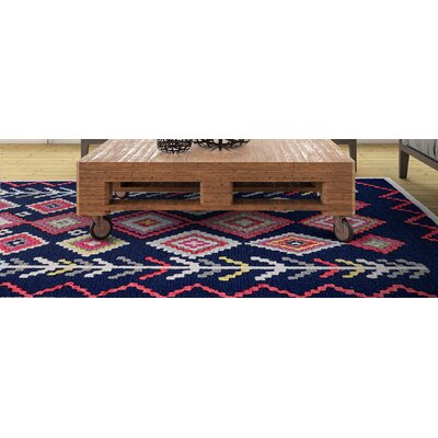 N�stved Hand Tufted Navy Area Rug Rug Size: 5 x 8