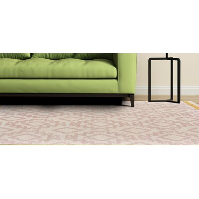 Kopstal Hand Woven Blush/Yellow Area Rug Rug Size: Rectangle 8 X 11