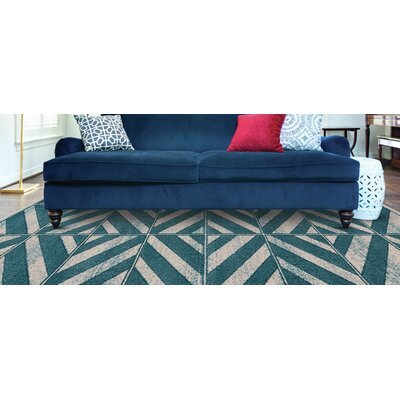 Elkhart Mint Area Rug Rug Size: Rectangle 5 x 8