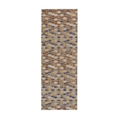 Rogers Castle/Taupe Area Rug Rug Size: Runner 210 X 710