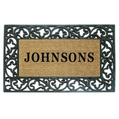 Rubber Coir Acanthus Personalized Door Mat
