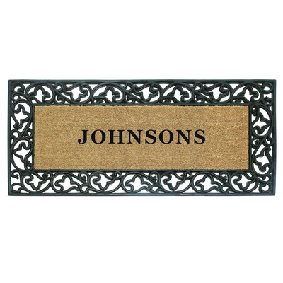 Rubber Coir Acanthus Personalized Door Mat Rug Size: 2' x 4'9