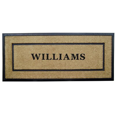 Rubber Coir Personalized Frame Door Mat Rug Size: 2 x 49