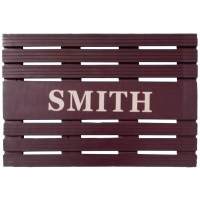 Painted Teak Personalized Door Mat