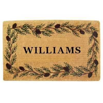 Heavy Duty Coco Evergreen Personalized Door Mat Rug Size: 26 x 4