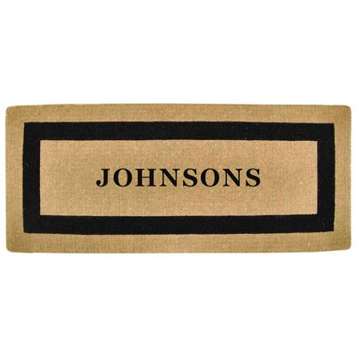 Heavy Duty Coco Single Picture Frame Personalized Door Mat Rug Size: 2 x 49