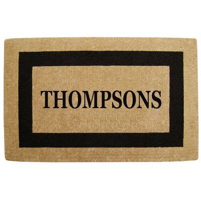 Heavy Duty Coco Single Picture Frame Personalized Door Mat Rug Size: 26 x 4