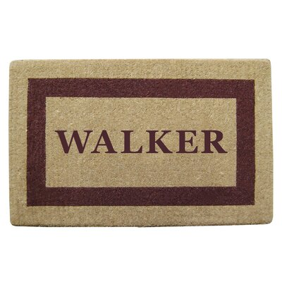 Heavy Duty Coco Single Picture Frame Personalized Door Mat Rug Size: 32 x 5